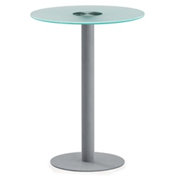 Glass Top Cafe Table
