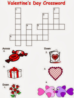 Easy Valentines Crosswords For Kids | Valentines Crossword