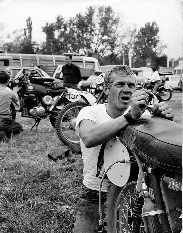 classic cars authority steve mcqueen and paul newman both motorbike riders and featured on. Black Bedroom Furniture Sets. Home Design Ideas