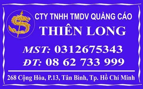 Bảng hiệu cty quảng cáo Thiên Long
