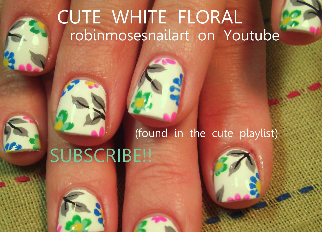 Do it yourself nail art flowers flower nails via easy do it yourself nail art white and orange flower design love view images solutioingenieria Image collections