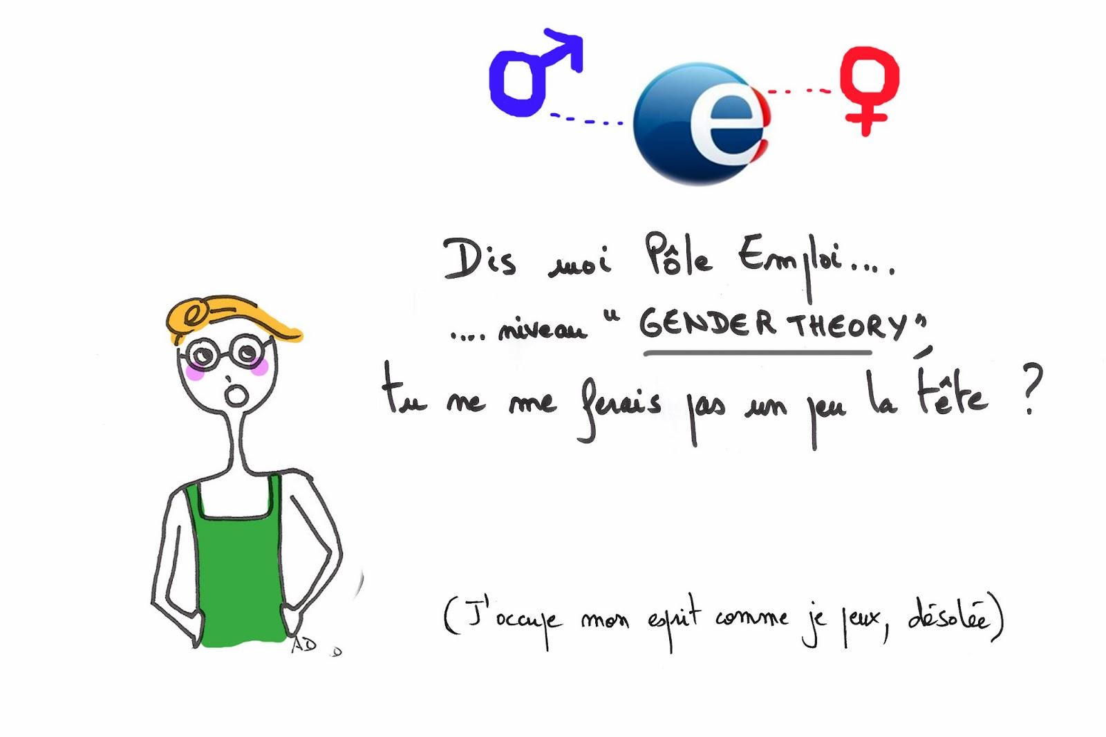Gender théorie, chômage, pôle emploi, chômeuse
