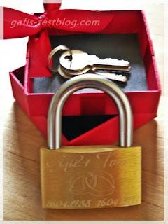 Liebesschloss mit Schlüssel