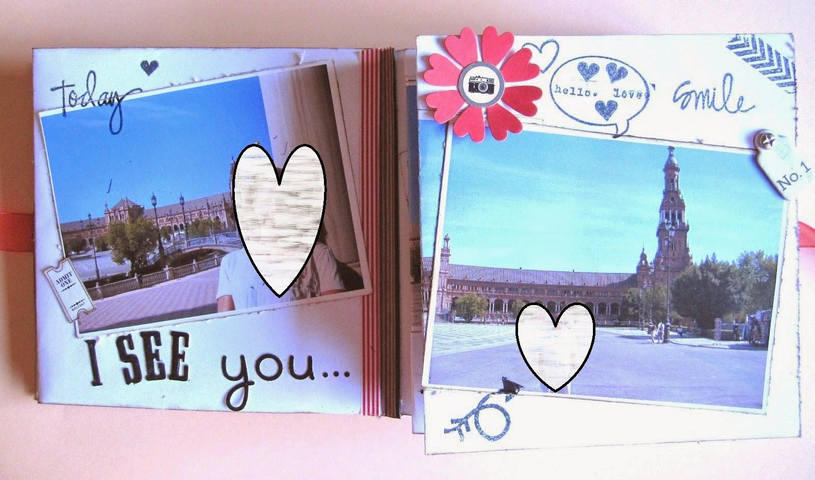foto 11 decoración interior LOVE mini-album con fotos de la plaza de España de Sevilla