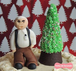 Modelado de Azúcar: Abuelo y Arbol de Navidad