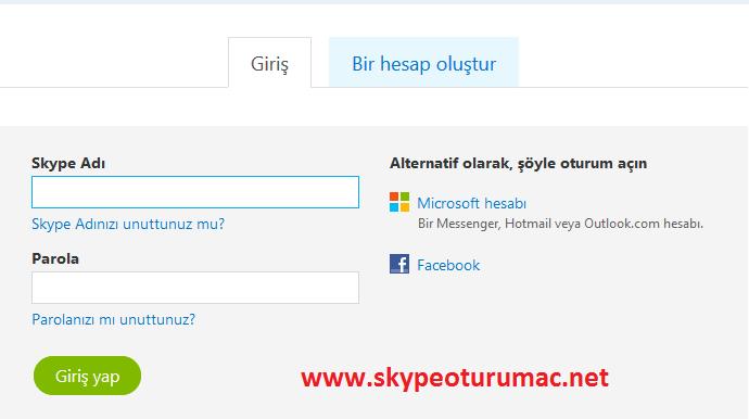 skype.com ekran görüntüsü