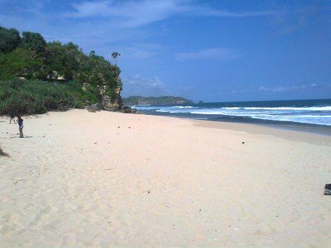 Wisata Pantai di Jogja Yogyakarta - Pantai Sepanjang Gunung Kidul