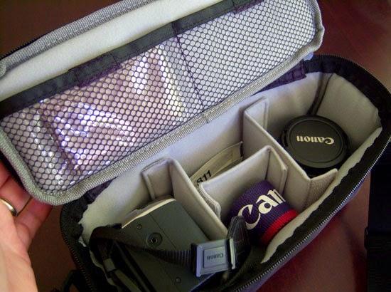 Jill-e Designs Camera Insert Bag filled