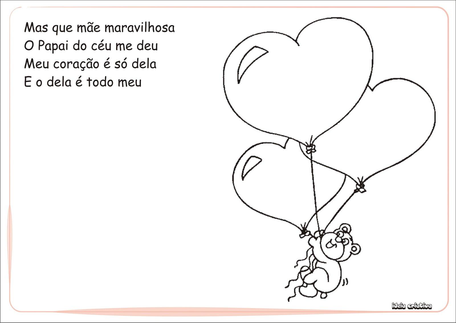 Álbum Homenagem Dia das Mães Educação Infantil