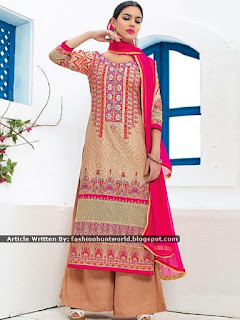 Embroidered Neck Suits For Indian Women