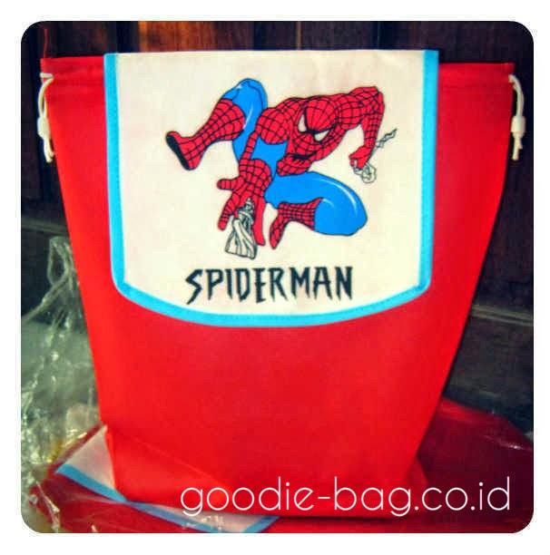 Tas Ulang Tahun Gendong Spiderman