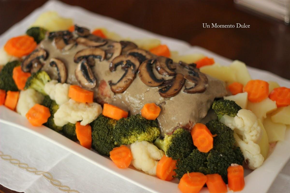 Un momento dulce pan de carne al vapor con verduras y for Cocinar xoubas