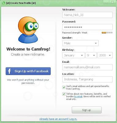 Buat ID Camfrog 6.5 Baru