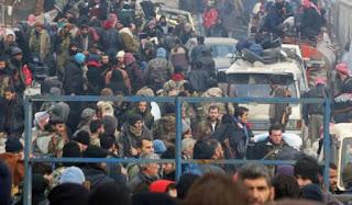 SYRIA GANTUNG PROSES PEMINDAHAN PENDUDUK ALEPPO