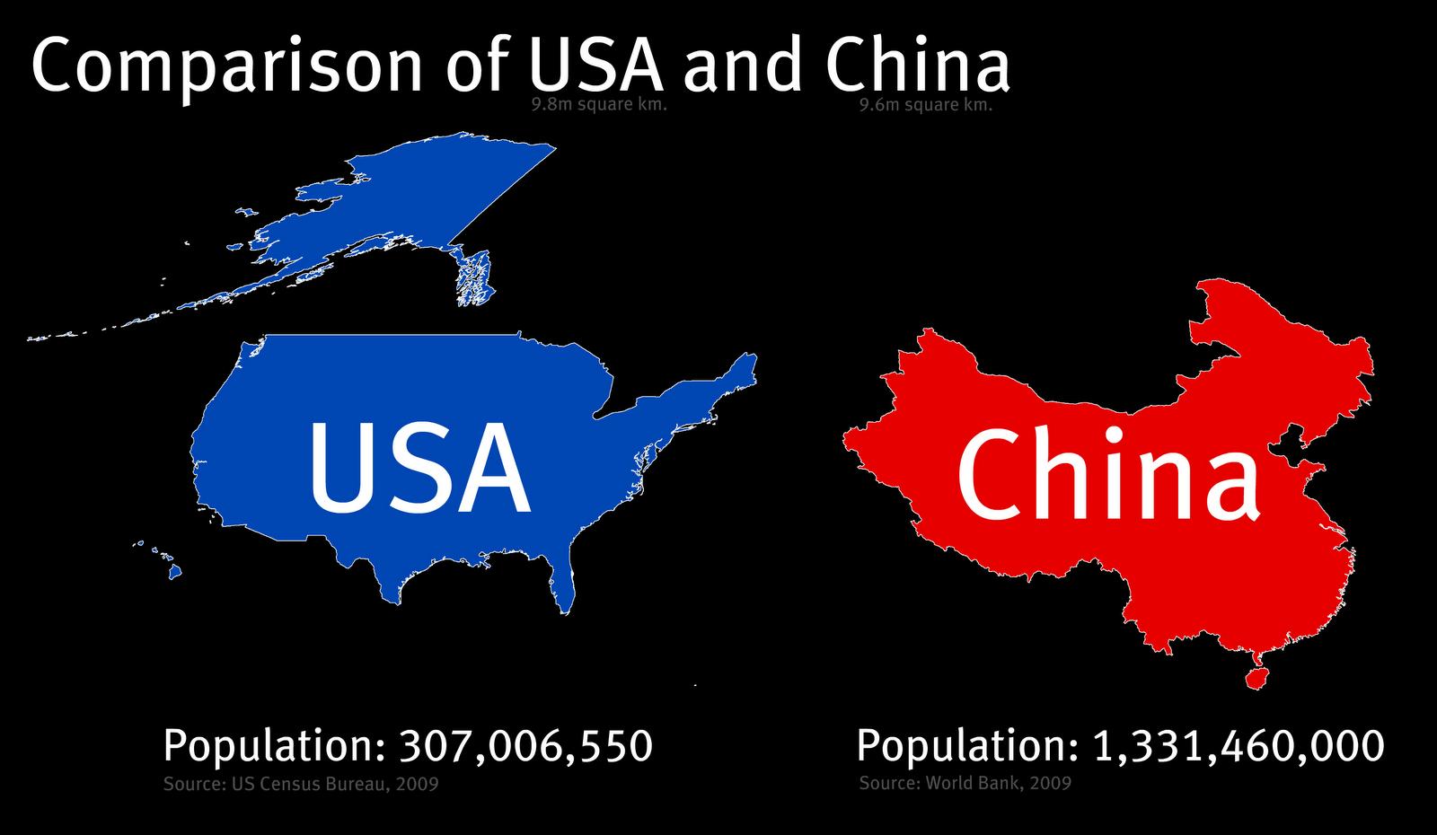 China Map Usa - China usa map