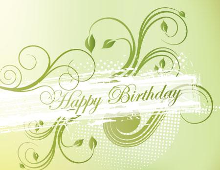 Beautiful Vector Birthday design Image source