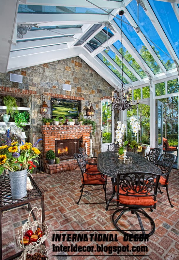 winter garden decorating ideas and trends, glass walls