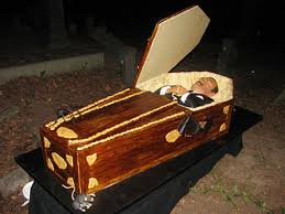 Cake Boss Vampire Coffin Cake