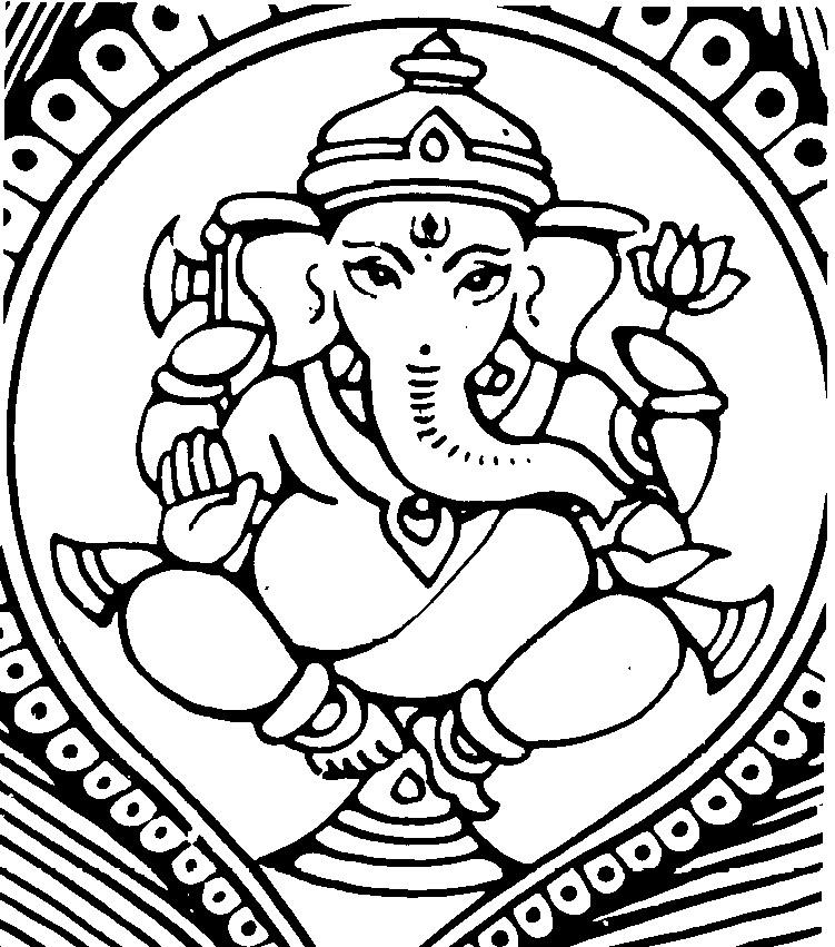 Line Art Hindu Gods : Hindu gods ganesh drawings images
