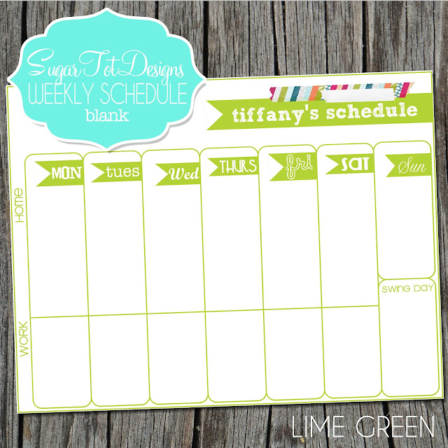 Weekly Calendar Template Monday Friday Weekly calendar template