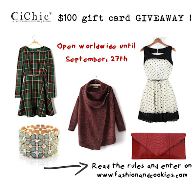 Cichic $100 giveaway on Fashion and Cookies