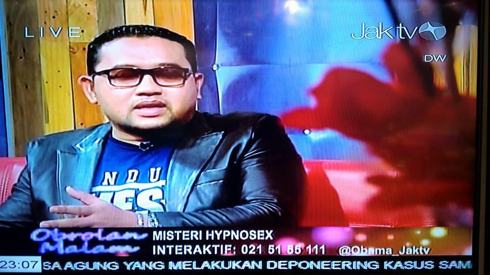 Menjadi nara sumber tentang HipnoSex di JakTV