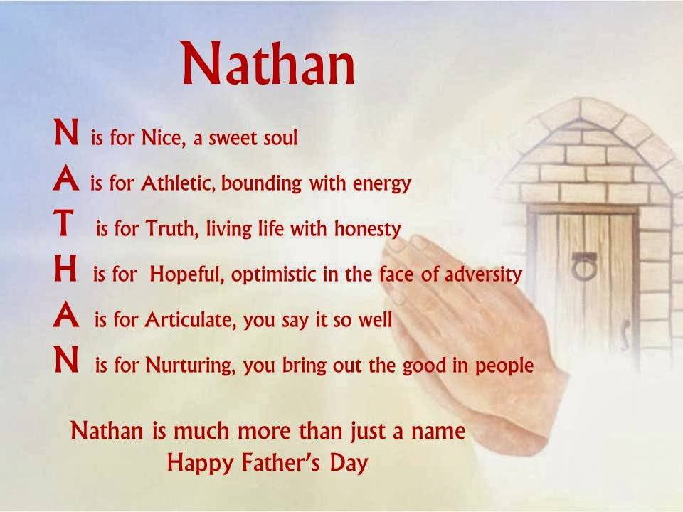Acrostic Name Poems For Boys Nathan