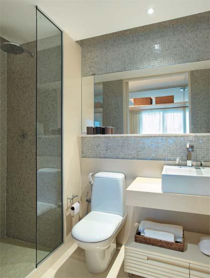Adoro Arquitetura Banheiros Inspiradores -> Decoracao De Banheiro De Apto Pequeno