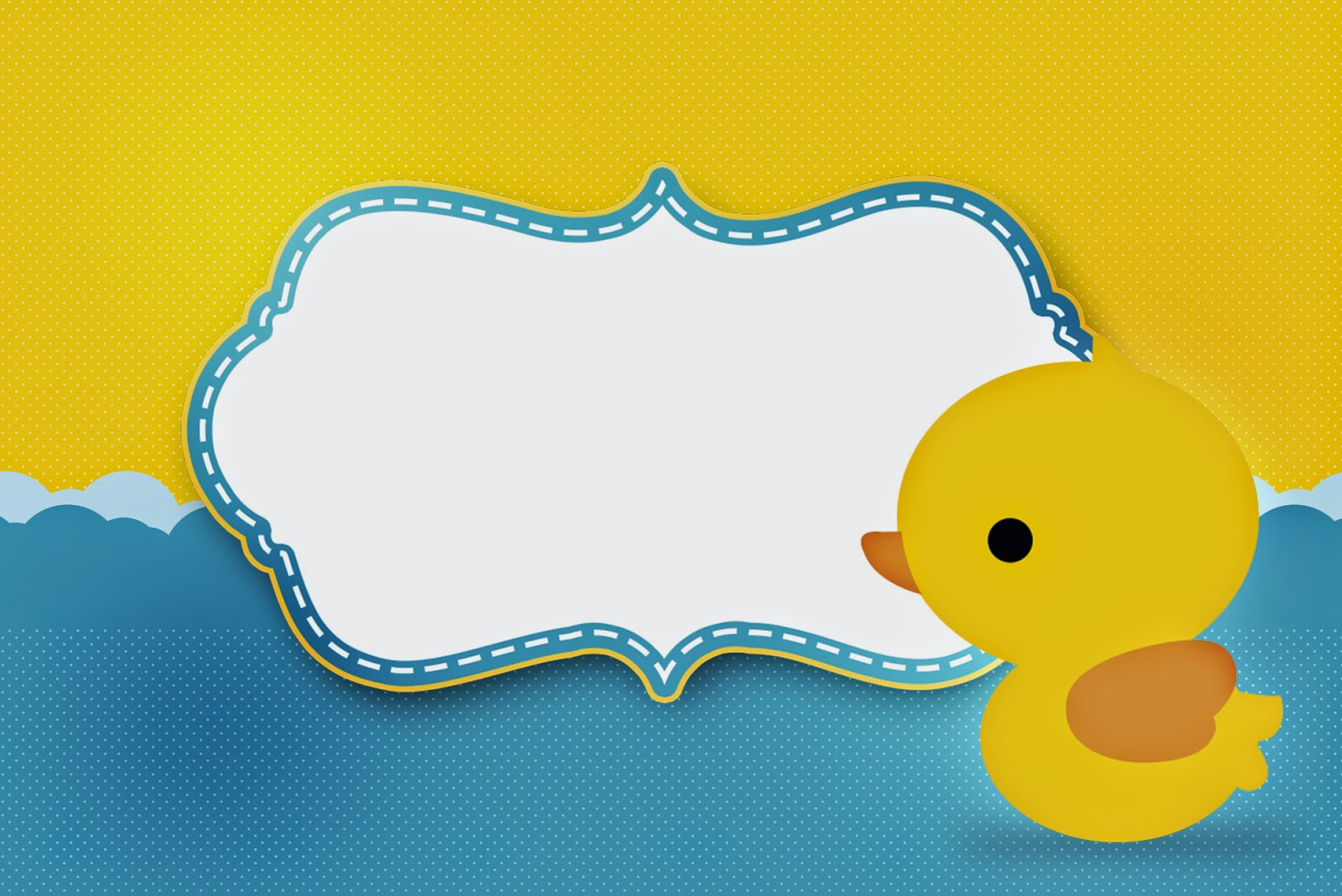 Rubber Ducky: Free Printable Invitations. | Oh My Fiesta! in english
