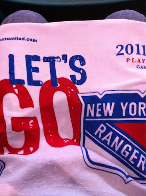 2011 stanley cup playoffs ny rangers rally towel