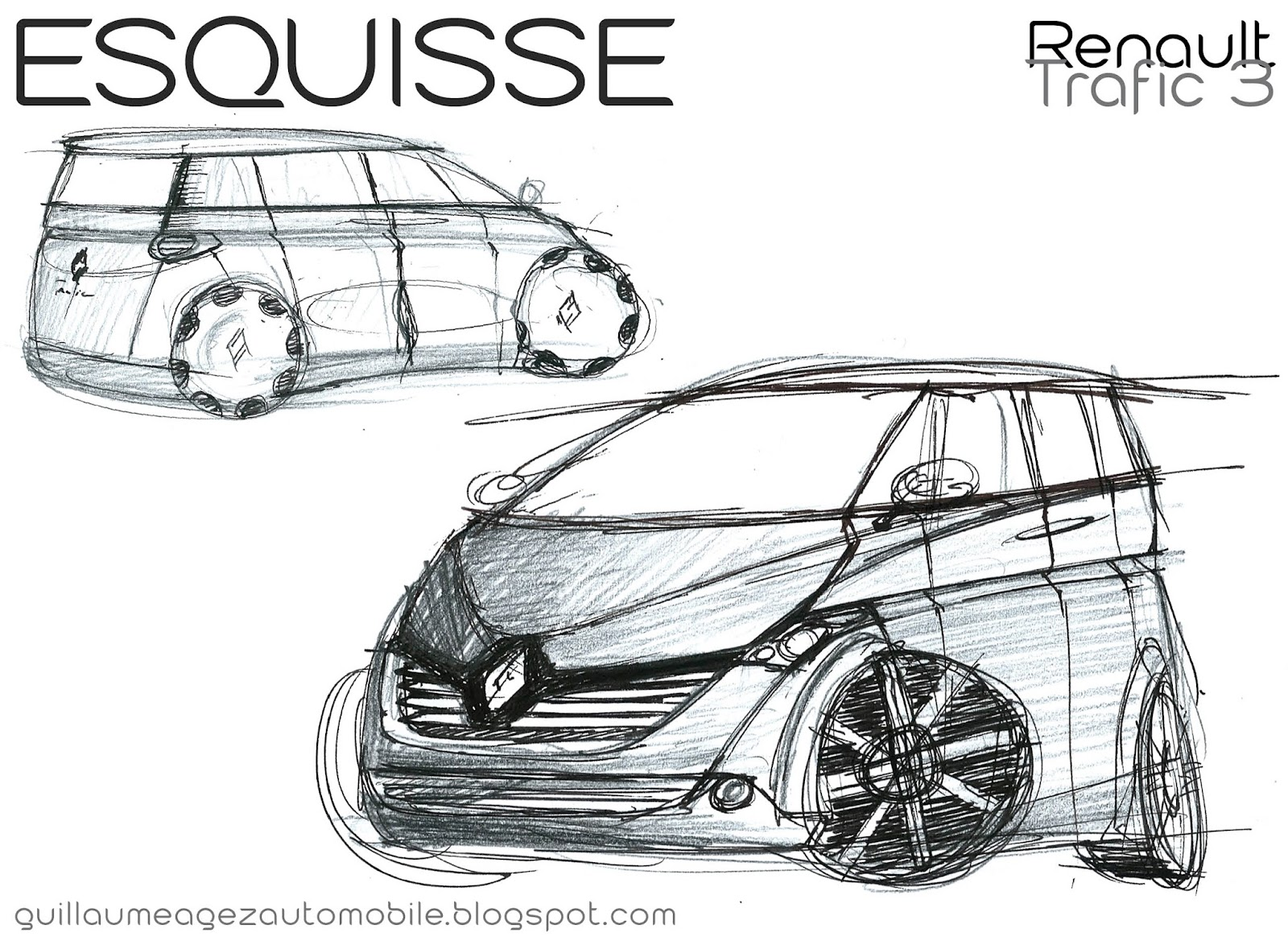 guillaume agez automobile esquisse renault trafic 3. Black Bedroom Furniture Sets. Home Design Ideas