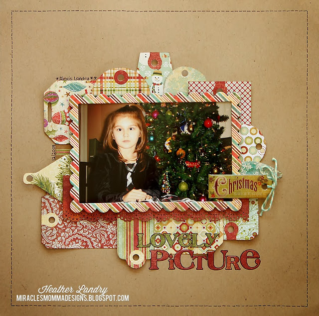 Christmas Tree_Tags_Daughter_Posed Photo_Scrapbook