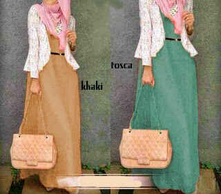 maxi dress spandek + pasmina