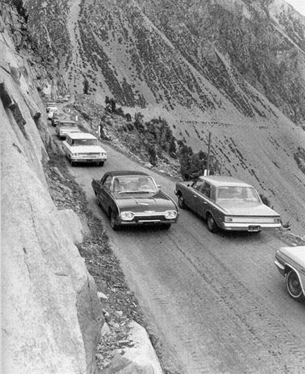 1960s black and white photo of Tioga Pass
