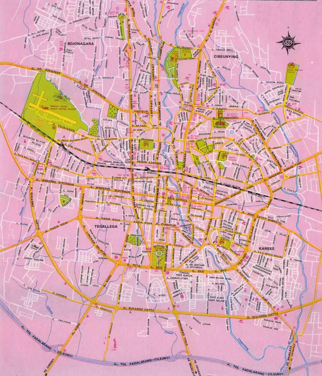 Amazing indonesia bandung city tourism map bandung city tourism map englishindonesia sciox Choice Image