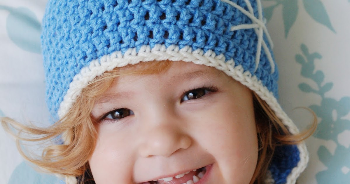 Free Crochet Hat Pattern For 6 Year Old : Alli Crafts: Free Pattern: Earflap Hat - Toddler