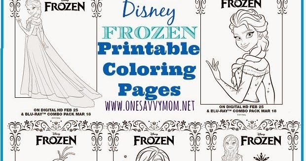 One Savvy Mom NYC Area Mom Blog Disney Frozen Free Printable Anna Elsa and Olaf Coloring