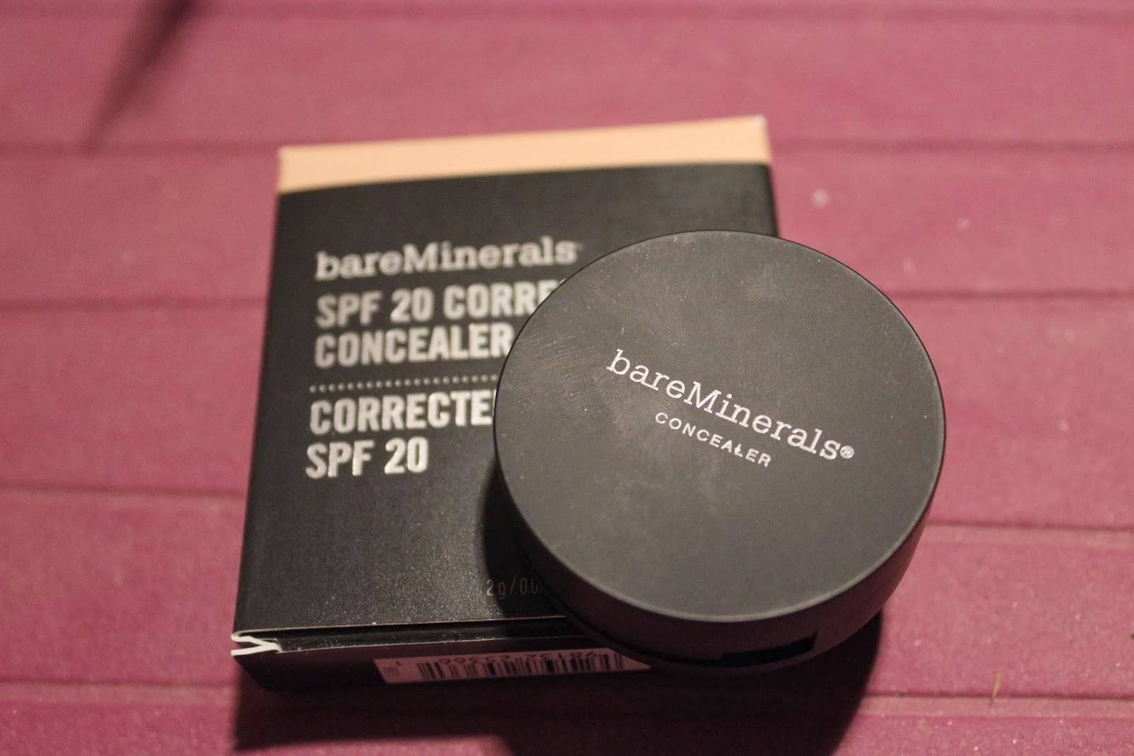 correcteur crème SPF 20 bareMinerals concealer