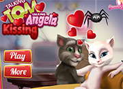 Talking Tom y Angela Kiss