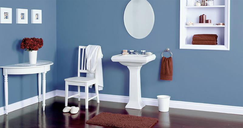 Decoracion de baño en azul ~ dikidu.com