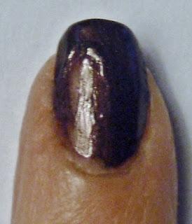 smudged nail polish