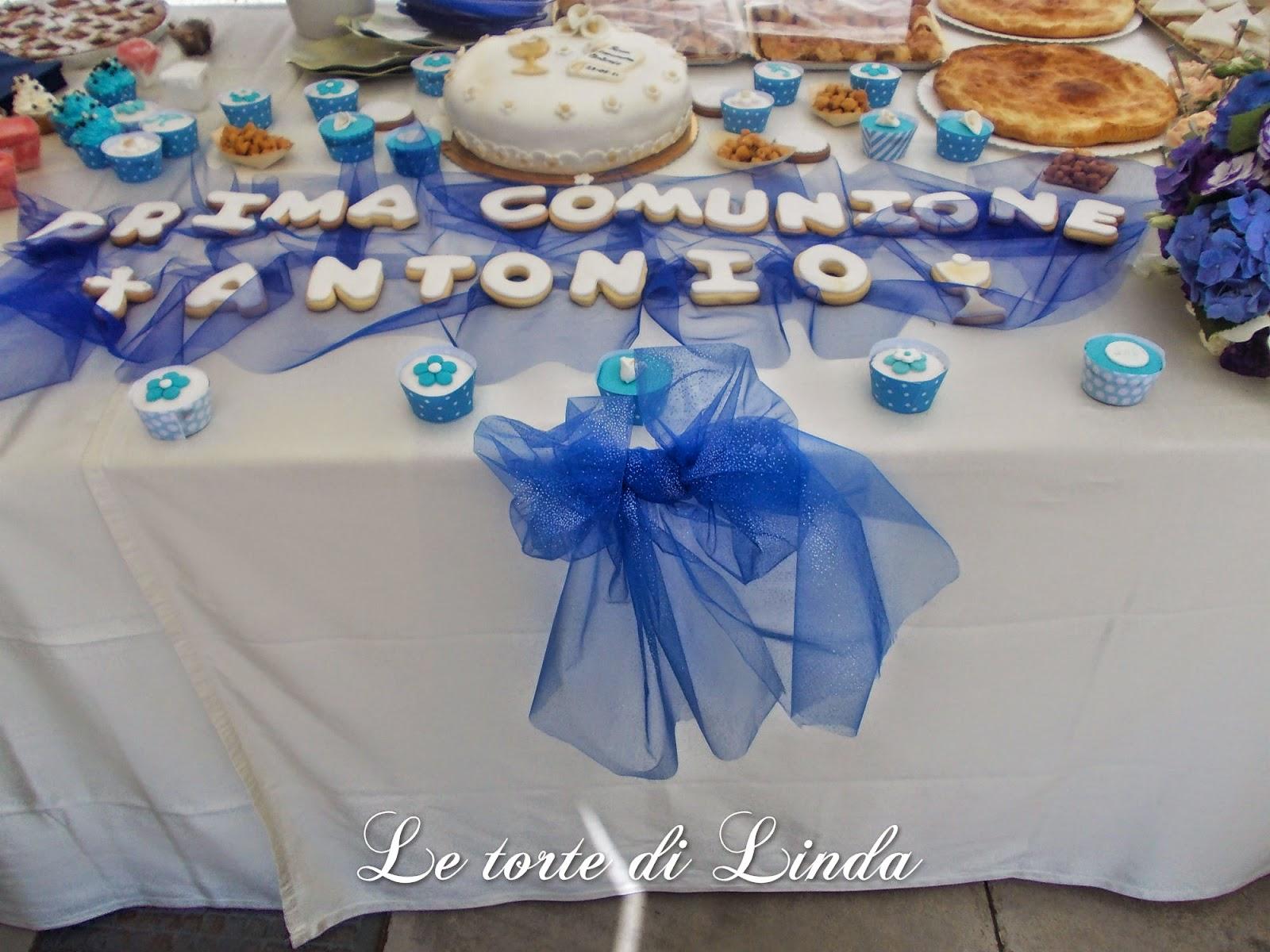 Le torte di linda buffet prima comunione antonio - Addobbo tavola prima comunione ...