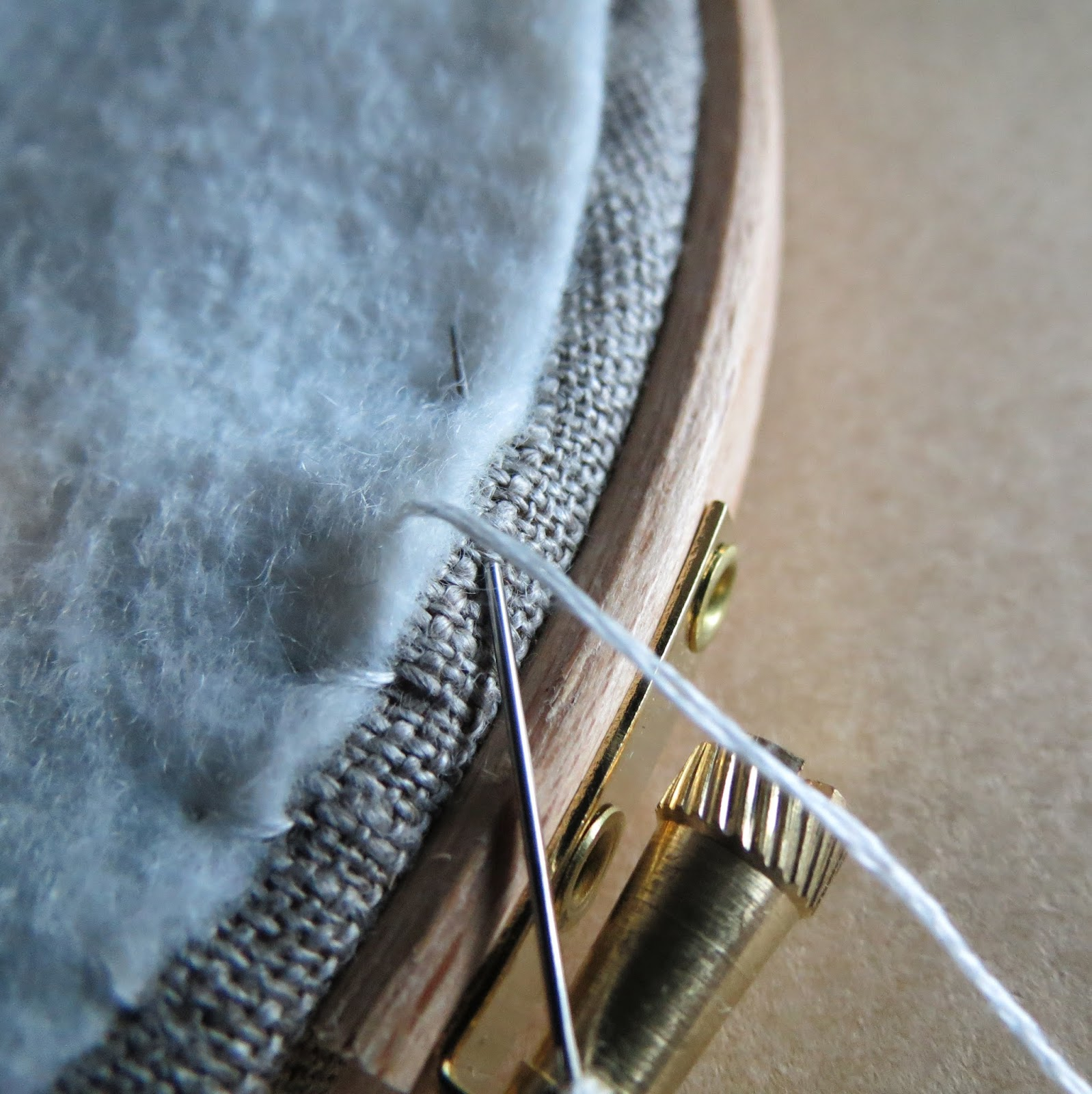 To Neatly Finish The Back Of Your Hoop, Take The Circle Of Felt You  Prepared Earlier And Whip Stitch In Coordinating Coloured Embroidery  Thread The Felt
