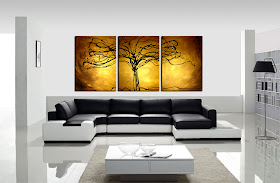 "ORIGINAL ABSTRACT PAINTING ""TREE OF LIFE""  - SHIPPING IS FREE!"