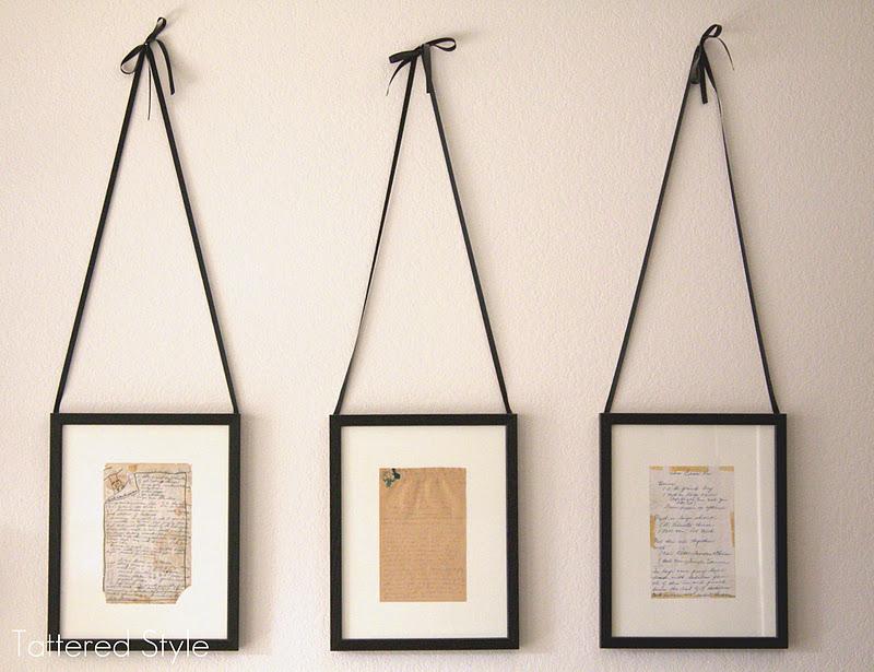 Tattered Style: Framed Recipes / DIY Tutorial