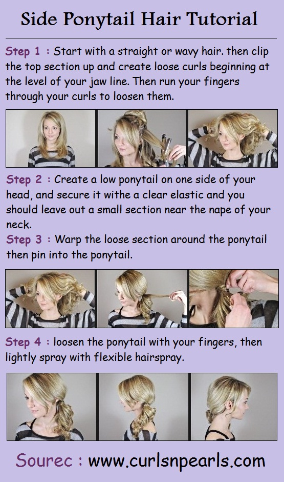 Side Ponytail Hair Tutorial