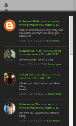 membuat recent comment ala notifikasi google