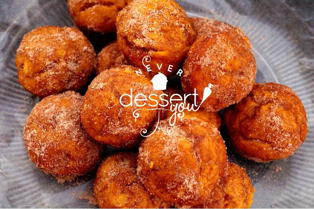 Pumpkin Doughnut Muffins - Never Dessert You