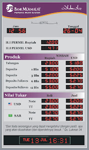 Display Nisbah Bank Muamalat