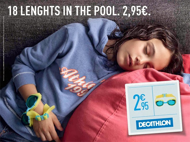 Decathlon niños cansados natación